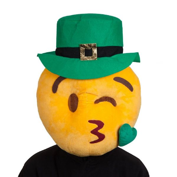 Adults Irish Kissy Mascot Face Mask for St Patricks Days Ireland Fancy Dress